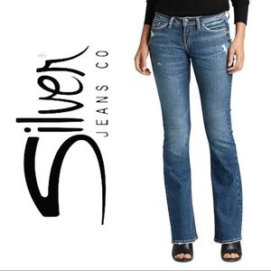 Silver Jeans Tuesday Distressed Bootcut Jeans 28